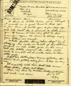 Letter to Annie Gene January 17, 1945